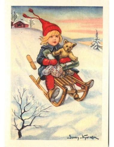 Jenny Nyström -joulukortti