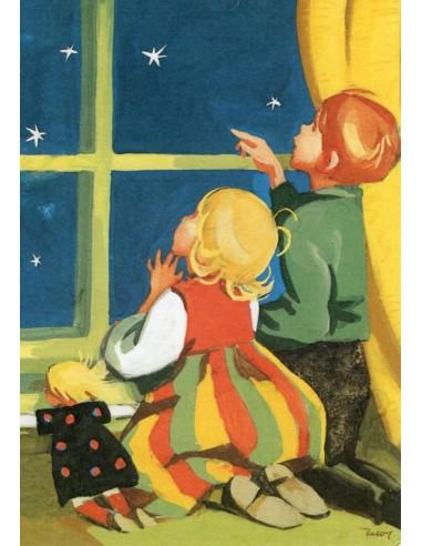 Martta Wendelin -joulukortti